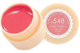 Гель-краска CANNI №548 ( кораллово- розовая), 5 мл