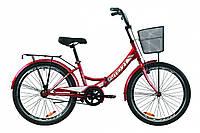 """Велосипед 24"""" Formula SMART с багажником зад St, с крылом St, с корзиной St 2020 (красный)"""