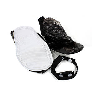 Резиновые бахилы на обувь от дождя Lesko SB-318 черный размер M низкие надежная защита от грязи снега, фото 2