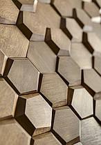 Деревянные 3Д панели стеновые УЛЕЙ мозаика с дерева дуб, ясень, фото 3