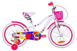 """Велосипед 18"""" Formula CREAM 14G Al с крылом St, с корзиной Pl 2019 (черно-фиолетовый)"""