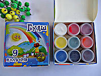 Гуашь для рисования 9цв,10мл,110гр,Тетрада.Краски гуашевые 9цв,Тетрада.Краски для рисования и детского творчес