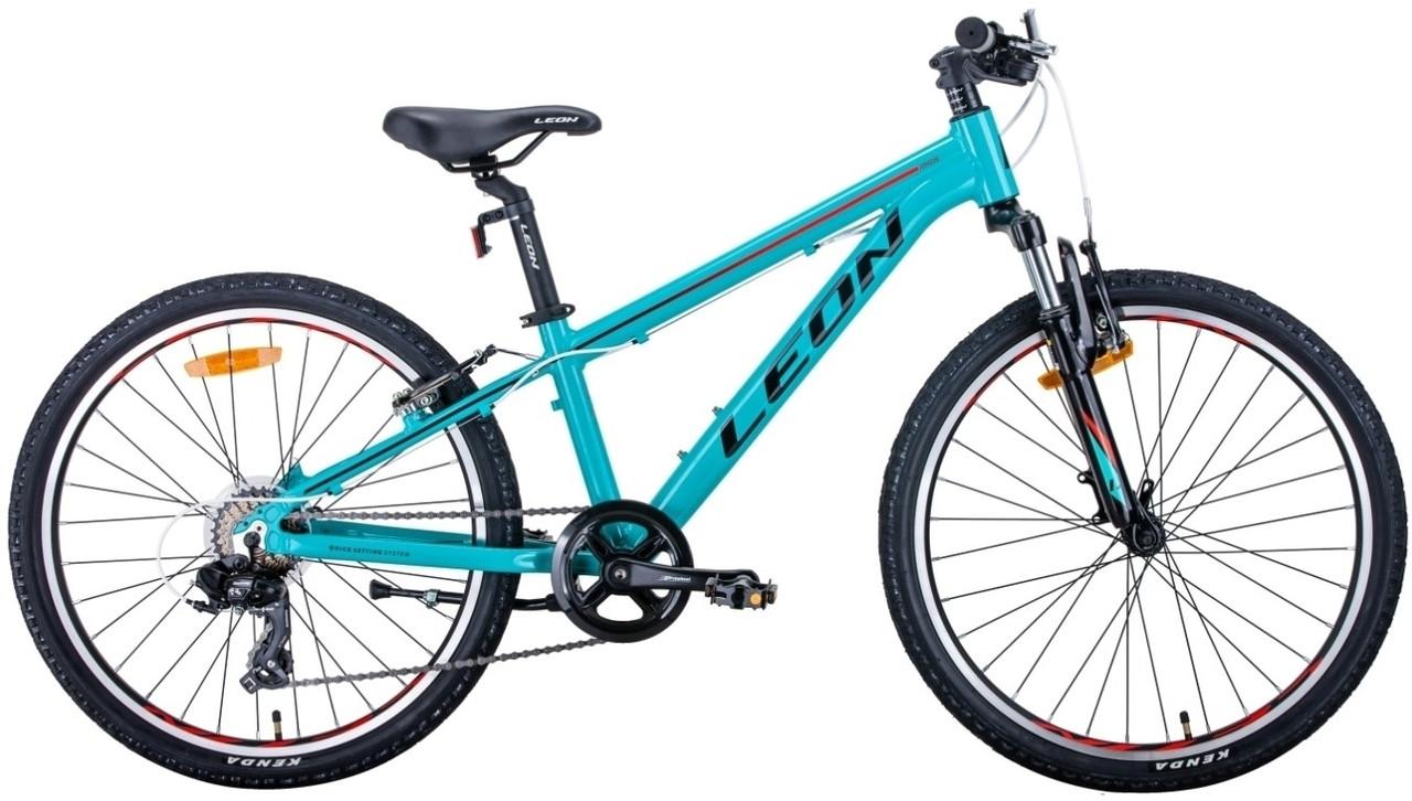 """Велосипед 24"""" Leon JUNIOR AM 2020 (бирюзово-красный с черным)"""