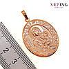"Иконка Xuping ""Божия Матерь"", для цепочки до 7 мм, размер 39*25 мм, вес 4 г, позолота 18K, ХР00386 (1), фото 2"