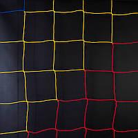 Сетка футбольная «ЭКОНОМ» сине-жёлто-красная (комплект из 2 шт.) для Республики Молдова