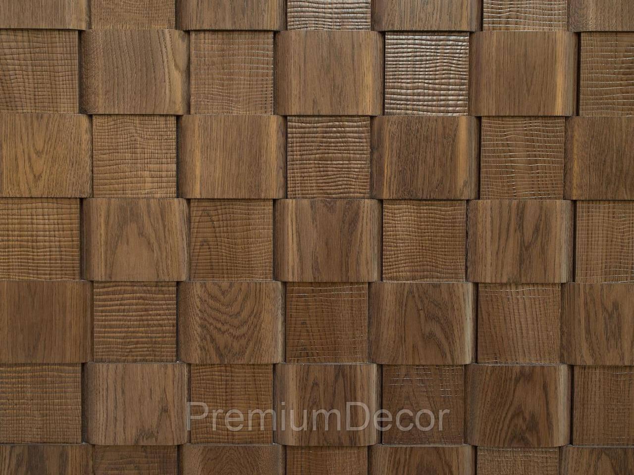 Деревянные 3Д панели стеновые ОСЛО мозаика с дерева дуб, ясень