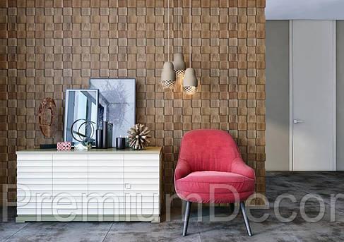 Деревянные 3Д панели стеновые ОСЛО мозаика с дерева дуб, ясень, фото 2