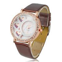 Часы женские GENEVA (ЖЕНЕВА) Heart Коричневые, фото 1