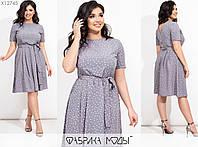 Літнє плаття жіноче з штапелю (4 кольори) ТЗ/-301 - Сірий, фото 1