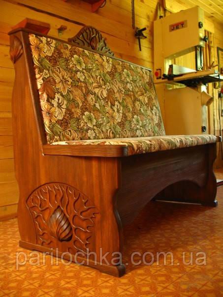 Кухонный диванчик из массива дерева.
