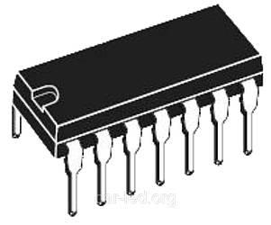 К548УН1А DIP14 - микросхема, двухканальный малошумящий усилитель для предварительного усиления сигналов частот