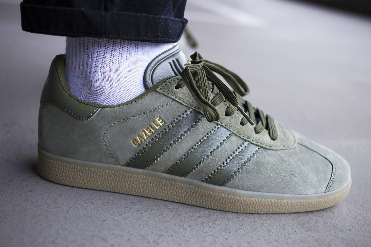 Мужские кроссовки Adidas Gazelle Green ( Реплика )