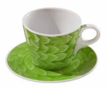 Чашка с блюдцем - 240 мл, Зеленая (ALT Porcelain) Lavazza
