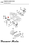 Кронштейн подушки двигателя правый Daewoo Nexia и Daewoo Lanos Ланос,GM  96078088, фото 4