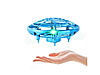 Квадрокоптер 'Летающая тарелка' ручной дрон UFO Y1102  с Led подсветкой