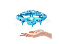 Квадрокоптер 'Летающая тарелка' ручной дрон UFO Y1102  с Led подсветкой, фото 1