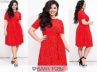 Летнее платье женское из штапеля (4 цвета) ТС/-301 - Красный, фото 1