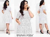 Летнее платье женское из штапеля (4 цвета) ТС/-301 - Белый, фото 1
