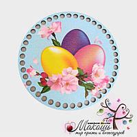 Цветная круглая заготовка для корзинки, 16 см, Пасхальная