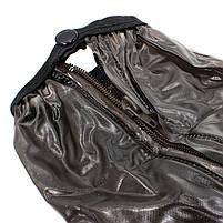 Резиновые бахилы на обувь от дождя Lesko SB-318 Черный размер M прочные водонепроницаемые защита от промокания, фото 2
