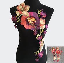 Аппликация на одежду пришиваня Орхидеи