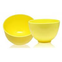 Миска пластиковая Lindsay rubber bowl Жёлтая