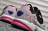 Стильные женские кроссовки Adidas Falcon Black/Grey/Pink, фото 2