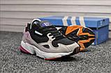 Стильные женские кроссовки Adidas Falcon Black/Grey/Pink, фото 4