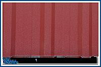 Профнастил стеновой ПС-18 RAL 3005 Цвет Винно-красный (вишневый матовый).
