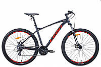 """Горный велосипед 29"""" Leon TN-90 2020 (графитовый с красным (м))"""