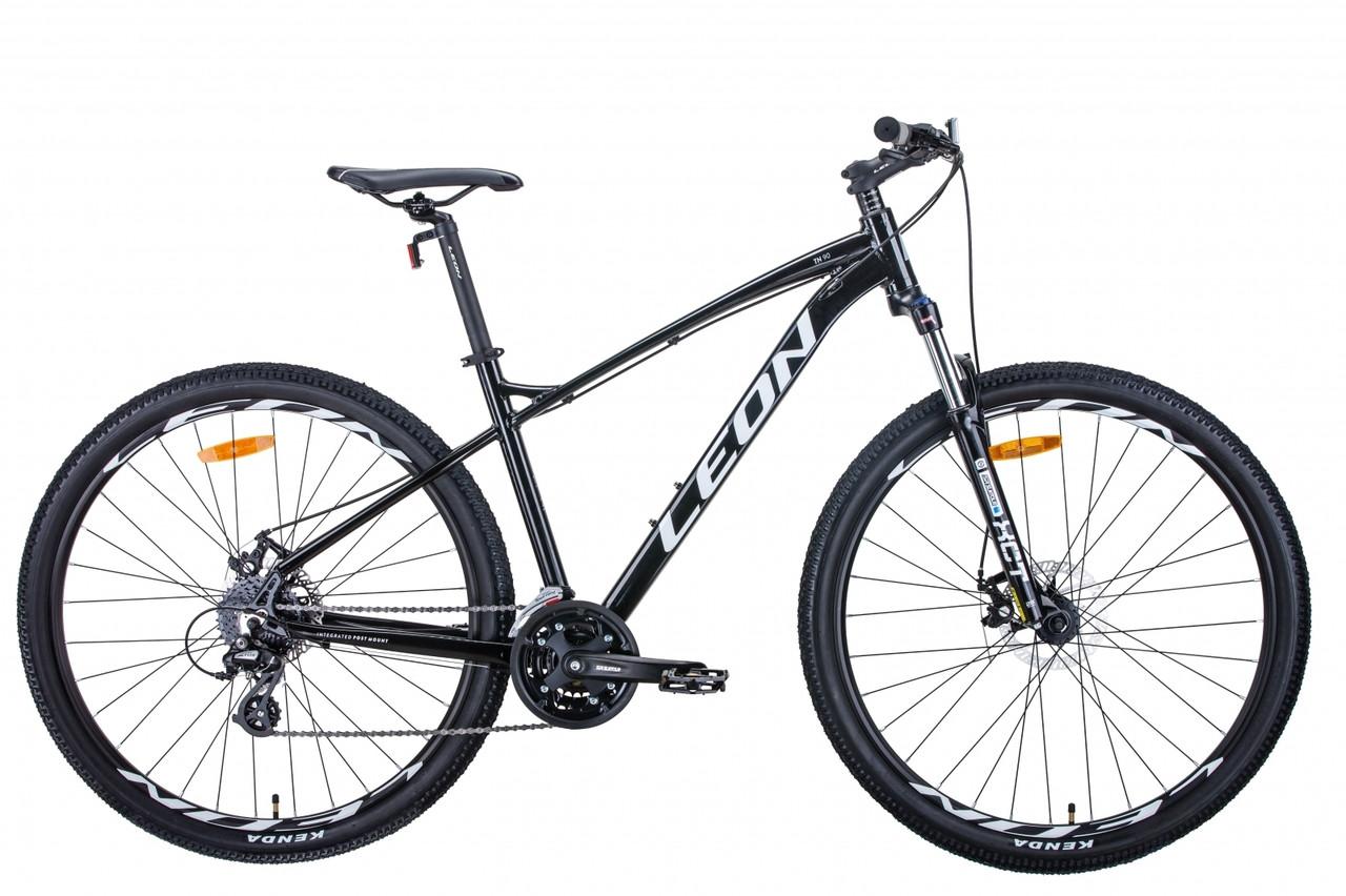 """Горный велосипед 29"""" Leon TN-90 2020 (чёрно-белый c серым)"""