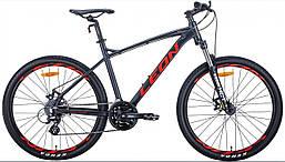 """Горный велосипед 26"""" Leon HT-90 2020 (графитовый с красным (м))"""
