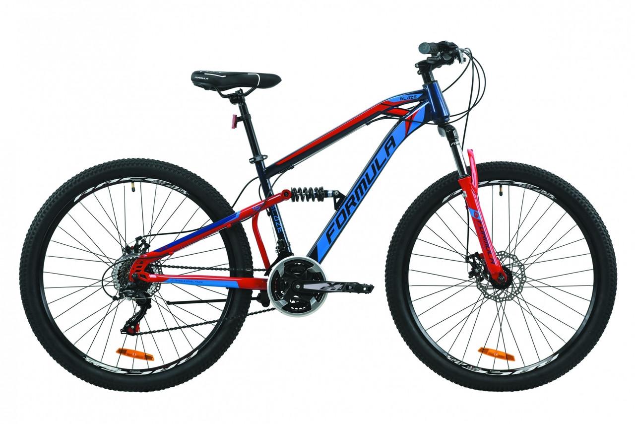"""Горный велосипед 27.5"""" Formula BLAZE 2020 (черно-серый с белым (м))"""
