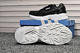 Стильні жіночі кросівки Adidas Falcon Black/White, фото 3