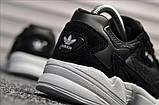 Стильні жіночі кросівки Adidas Falcon Black/White, фото 5