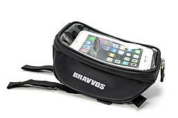Велосумка с отделением под смартфон черный BRAVVOS CT-002