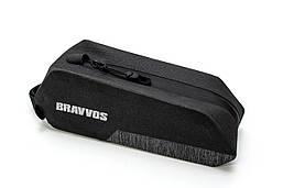 Велосумка на верхнюю трубу рамы 24.5x8x7cm черный BRAVVOS QL-502 водоотталк. материал