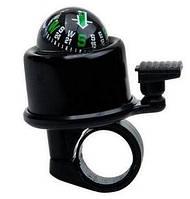 Звонок велосипедный с компасом черный BC-BB3205