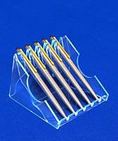 Акриловая подставка под ручки и карандаши