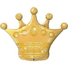 "Фольгована кулька велика фігура Корона 41"" 104см Qualatex"