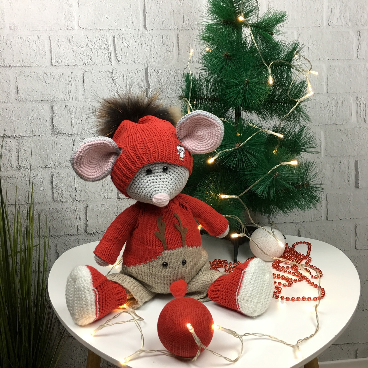 Мягкая детская игрушка ручной работы «Милый мышонок»