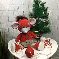 Мягкая детская игрушка ручной работы «Милый мышонок», фото 1