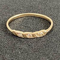 Кольцо с фианитами из золота 585 пробы.