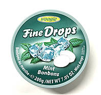 Льодяники Woogie Fine Drops Mint Bonbons (м'ятні) - 200 г