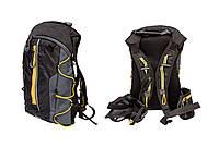 Рюкзак QIJIAN BAGS B-300 44х26х9cm черно-серо-желтый
