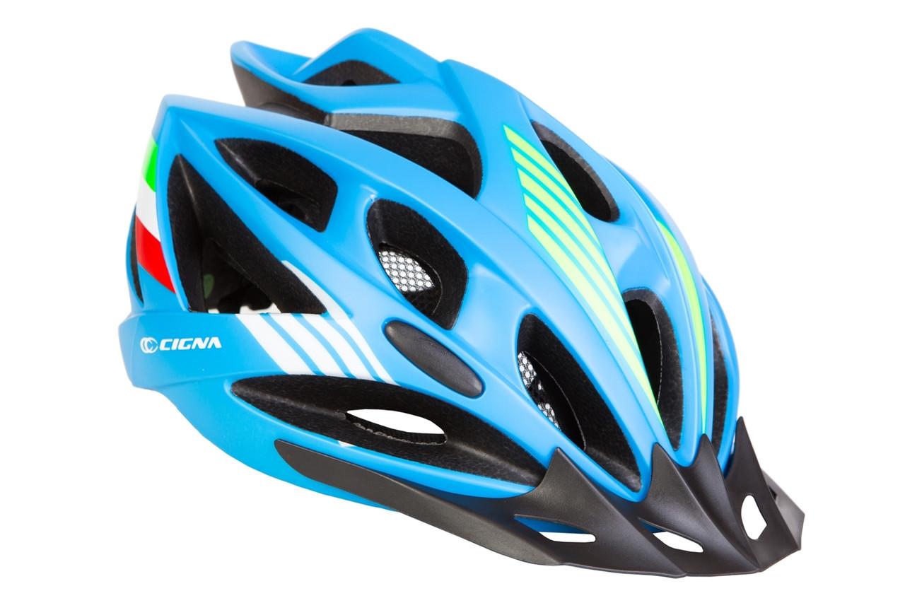 Шлем велосипедный с козырьком СIGNA WT-036 синий (синий)