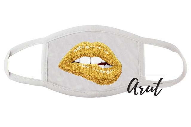 Многоразовая защитная маска Губки золото