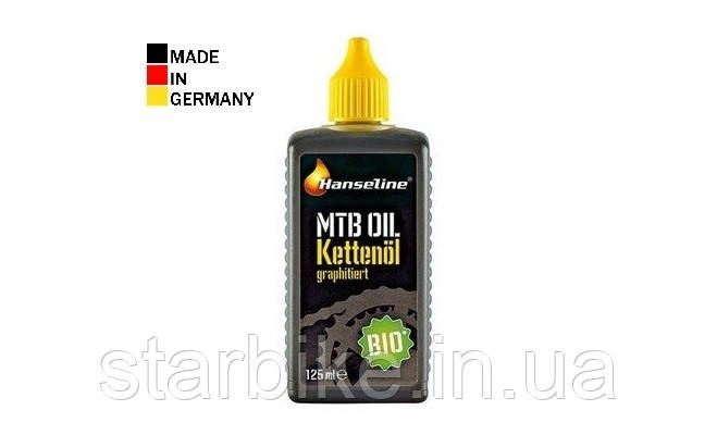 Смазка для цепи HANSELINE BIO MTB-OIL графитная, биоразлагаемая 125ml