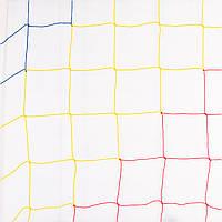 Сетка футбольная «ЭКОНОМ 1,5» сине-жёлто-красная (комплект из 2 шт.) для Республики Молдова