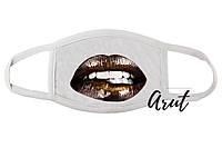 Стильна маска Бронзові губи